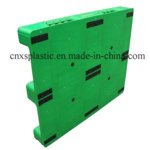 Um lado de HDPE, paletes plásticos 3 calha para a armazenagem de paletes plásticos