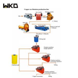 販売のためのタンザニアの銅鉱石の浮上法の選鉱のプラント