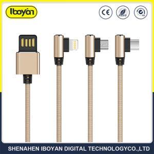 Cavo Braided del caricatore del USB del lampo di dati del telefono mobile 2.4A