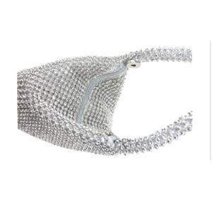 Un design élégant Fashion Mesdames partie sac plein Diamond Bracelet sac de soirée