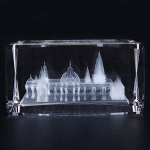 Óptica de 80mm K9 bypass suporta formatos entre cubo branco cristal (KS11021)