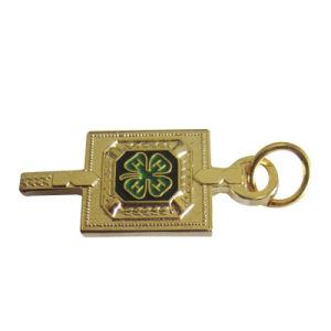 主形(243)の新しいデザイン記念品の金属の金のバッジ
