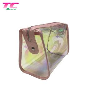 金のシリコーンの装飾的な袋のジッパーが付いている虹色の構成旅行袋