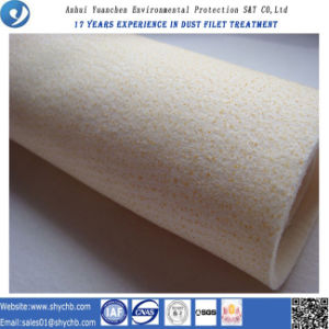 Não Tecidos de malha do filtro de Nomex para coleta de pó