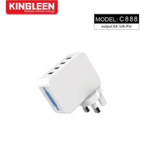 Модель C888 4 порт USB адаптер зарядного устройства для Великобритании разъем