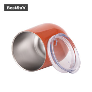 La sublimation 12oz vide à double paroi en acier inoxydable tasse à vin d'oeufs (orange) (BW22O)