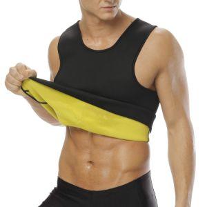 Los hombres Chaleco de entrenador de la cintura para Weightloss Neopreno Hot Corset Body Shaper sin Zipper Sauna Entrenamiento Camiseta Tank Top