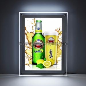 磁気パネルLEDの細く小さいアクリルの印の広告