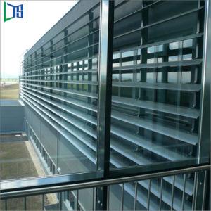 Alumínio fábrica Jalousie persiana janelas com vidro temperado único