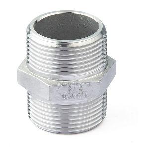 Los racores de tubo de baja presión de la cruz de bandas de hilo de acero inoxidable (CD-pl2888)
