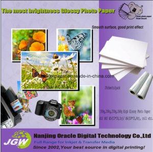 180GSM高い光沢のあるインクジェット写真のペーパー