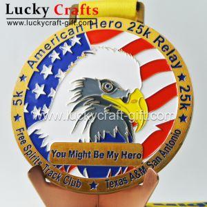 Настраиваемый логотип Craft цинк сплав марафон спорта работает металлические медаль