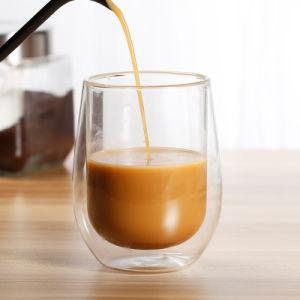 Dupla Parede de vidro de borosilicato de café espresso xícara de chá, Expresso, leite, café caneca
