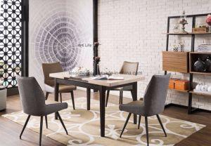 Design moderno mesa de jantar extensível e cadeira conjunto de móveis