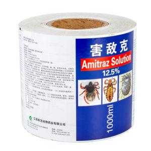 Rótulos das embalagens de matérias auto-adesivo impresso em etiquetas de rolos de vinil