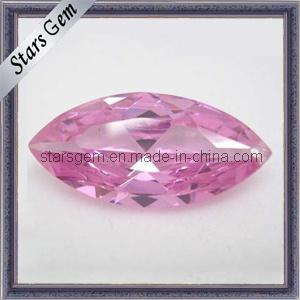 Het briljante Roze Synthetische Zirkoon van de Halfedelsteen Marquise