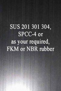 Het Rubber Met een laag bedekte Materiaal van de Pakking van het Staal FKM Coateds van het Roestvrij staal SUS 301 SUS 304 SPCC SAE 1010 van het Blad van het Metaal NBR
