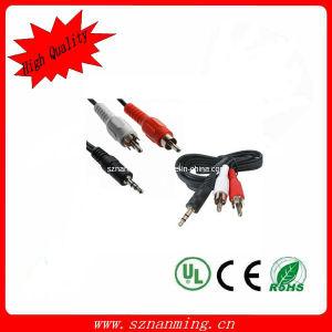 RCA Male Audio del nero 2 a 3.5mm Male Stereo Audio Cable