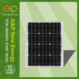 IEC TUVの証明書が付いている75Wモノクリスタル太陽電池パネル