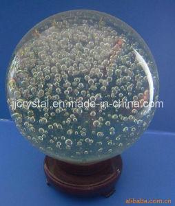 La burbuja de cristal la bola para la decoración de la mesa