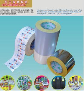 Material autoadesivo Unprinted da etiqueta com RoHS e alcance