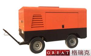 Moteur diesel compresseur mobile rotatifs à vis de conduite