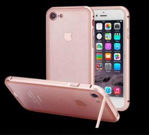 Armature en métal hybride claire Transparents titulaire cas Téléphone Mobile pour iPhone