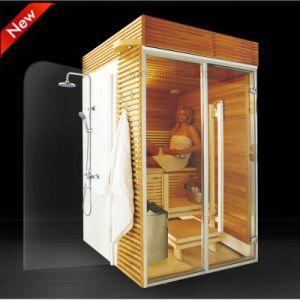 De nieuwe Zaal van de Stoom van de Sauna van het Ontwerp Openlucht, de Combinatie van de Douche van de Sauna (SR1K003)