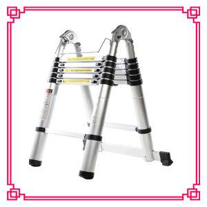 梯子の/Householdの二重アルミニウム望遠鏡の梯子
