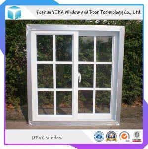 Precio competitivo/PVC cristal deslizante de UPVC dentro de la parrilla con doble vidrio
