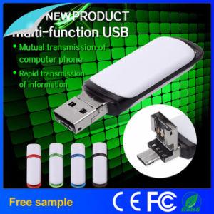 Портативные пластиковые 2в1 флэш-накопитель USB с персональными логотип