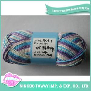 100% algodão Cross Tecelagem de fios de lã Tricô Rosca Stitch