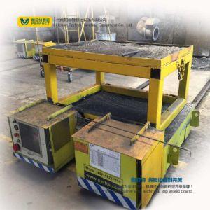 Plataforma de materiais pesados de forma cilíndrica Carrinho de transferência de paletes automatizados