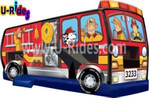 Bus de fuegos artificiales gorila inflable castillo inflable casa inflable para niños