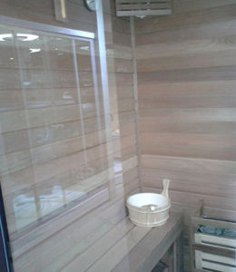 1 2 persona independiente de lujo Sauna de Vapor (M-8287)