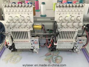 Wonyo 2 головки блока цилиндров с двойной вышивка машины компьютеризированные вышивка