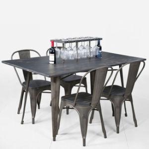 Restaurante moderno mobiliario de comedor mesa y silla Tolix de ...