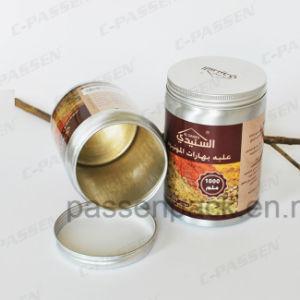 Contenedor de especias de cocina de aluminio con revestimiento interior de Calidad Alimentaria (golden y transparente de color)