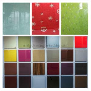 Le verre trempé de verre coloré les panneaux de portes des armoires de cuisine pour la vente