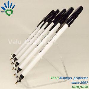 Cremagliera di visualizzazione acrilica libera della penna per 6 PCS