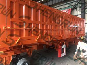 Vorhang-wahlweise freigestellter LKW-halb Kasten-Schlussteil