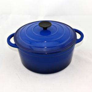 Smalto che cucina i POT rotondi della casseruola dello stufato del ghisa dei POT