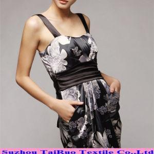 Tecido de poliéster Acetinado de impressão digital para vestir