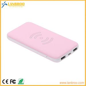 Ultra-Slim alimentación inalámbrica banco con dos puertos USB 8000mAh China fabricante OEM/ODM