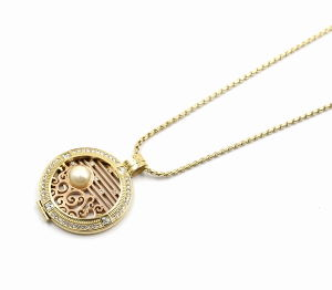 Nuovo Designed Floating Locket Pendant Necklace con Interchangeable Coin Plate