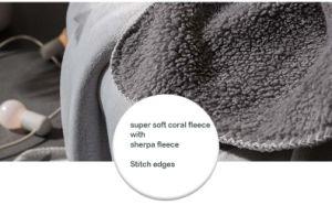 星の3Dによって浮彫りにされる普及した2つの層のSherpaの羊毛毛布