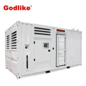 De hete Diesel die van Doosan van het Type van Container 690kVA van de Verkoop 552kw Reeks met Geluiddichte Luifel produceren