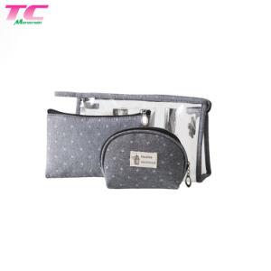 preço de fábrica Morecredit Makeuptoiletry Impermeável Organizer best-seller espelho cosmético Bag definido para viagem ou para a utilização diária