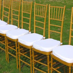 금속 코어 Insid를 가진 금 수지 Chiavari 그려진 의자가 SGS에 의하여 증명서를 줬다
