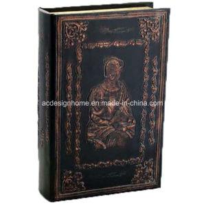Migliore contenitore di libro Bronze di vendita della cassa dell'annata con Jesus Relievo